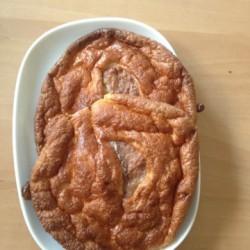 Croissant in rund - leider war ich zu faul das Eiweiß wirklich steif zu schlagen