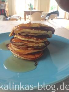 Dukan Pancakes mit Ahornsirup