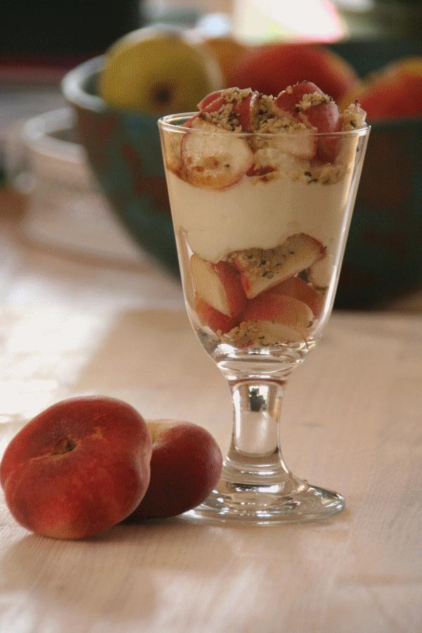 Joghurt mit Pfirsich