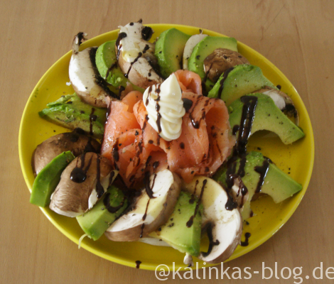 Champignon Avocado Salat LCHF